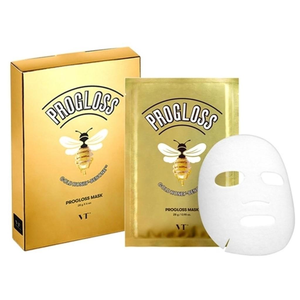 韓國 VT Progloss Mask (28g) VT 黃金蜜苯面膜 淡化細紋色 提亮膚 6EA六入裝