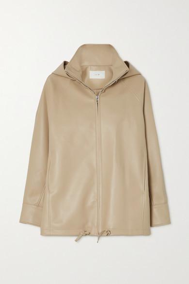 LVIR - 人造皮革连帽夹克 - 浅褐色 - FR40