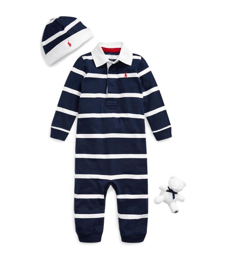 Ralph Lauren Kids Stripedplaysuit Gift Set (3-12 Months)