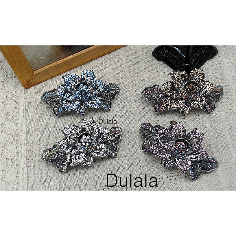 Dulala杜拉拉 正韓版飾品 自動夾 水鑚自動夾 古鉛自動夾