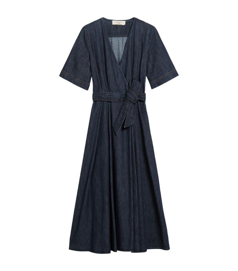 Weekend Max Mara Denim Wrap Midi Dress