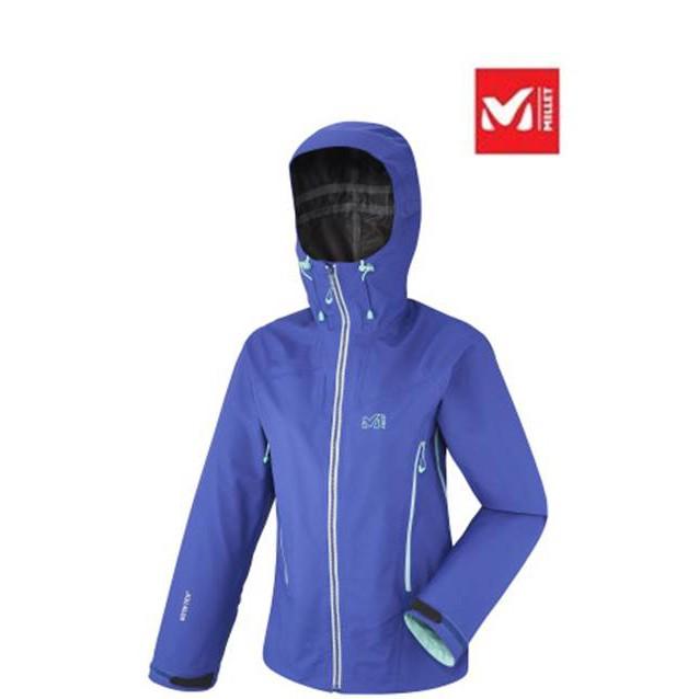 【MILLET】法國-女防風防水GTX外套-紫藍(MIV7822-6931)