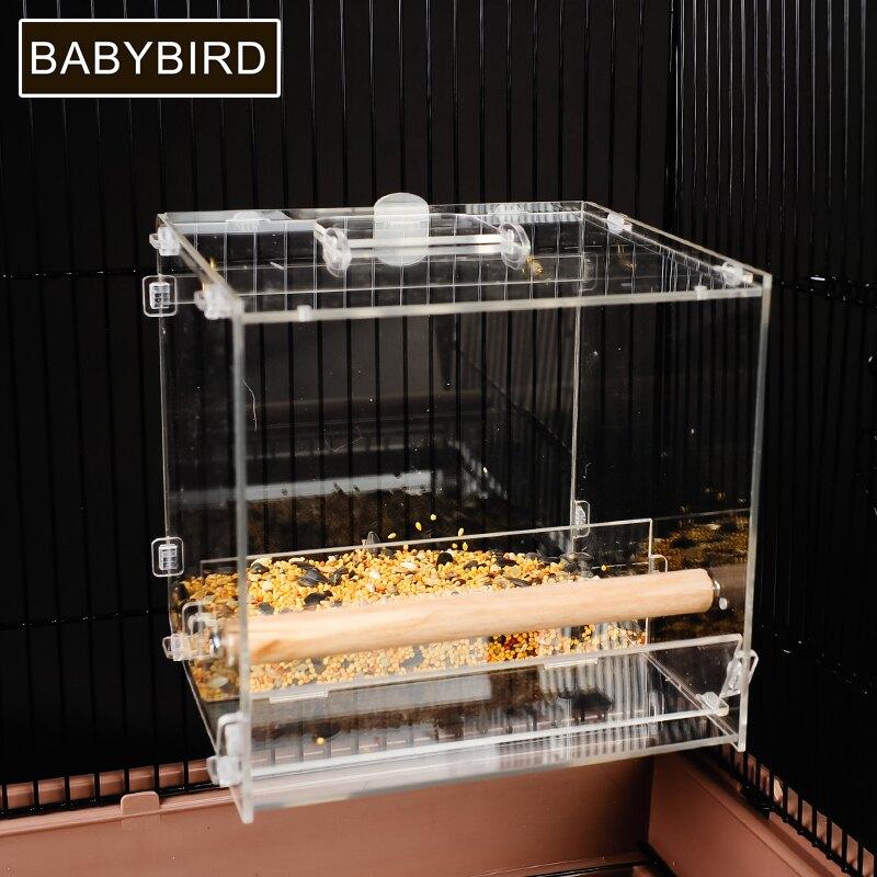 餵鳥器 鸚鵡自動喂食器防濺防撒下料鳥用食盒喂鳥器玄鳳虎皮牡丹八哥食槽 OB9260
