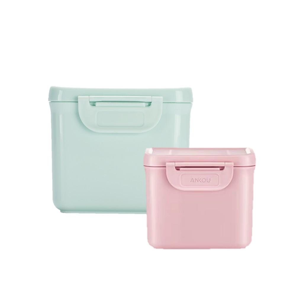 便攜式奶粉盒【專利設計/輕巧大容量】奶粉密封罐/奶粉分裝盒