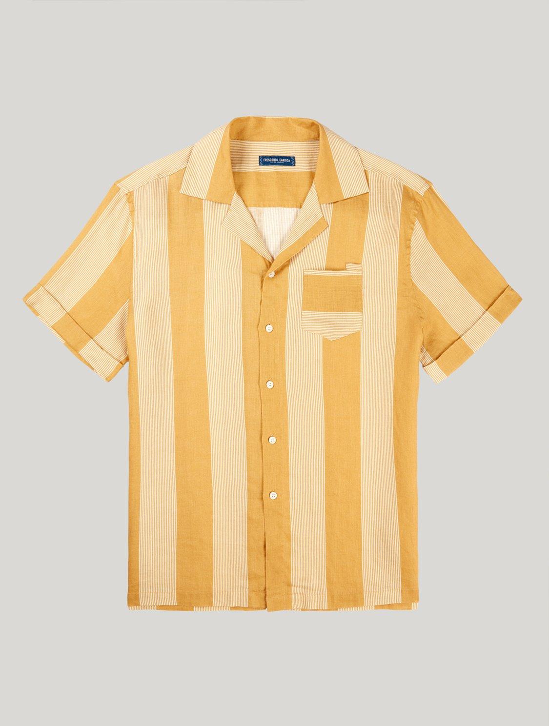 Thomas Shirt Cabana Stripe Print Twine & White M