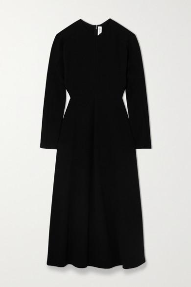 Victoria Beckham - 卡迪面料中长连衣裙 - 黑色 - UK10
