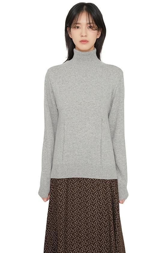韓國空運 - Modine punching turtleneck knit 針織衫