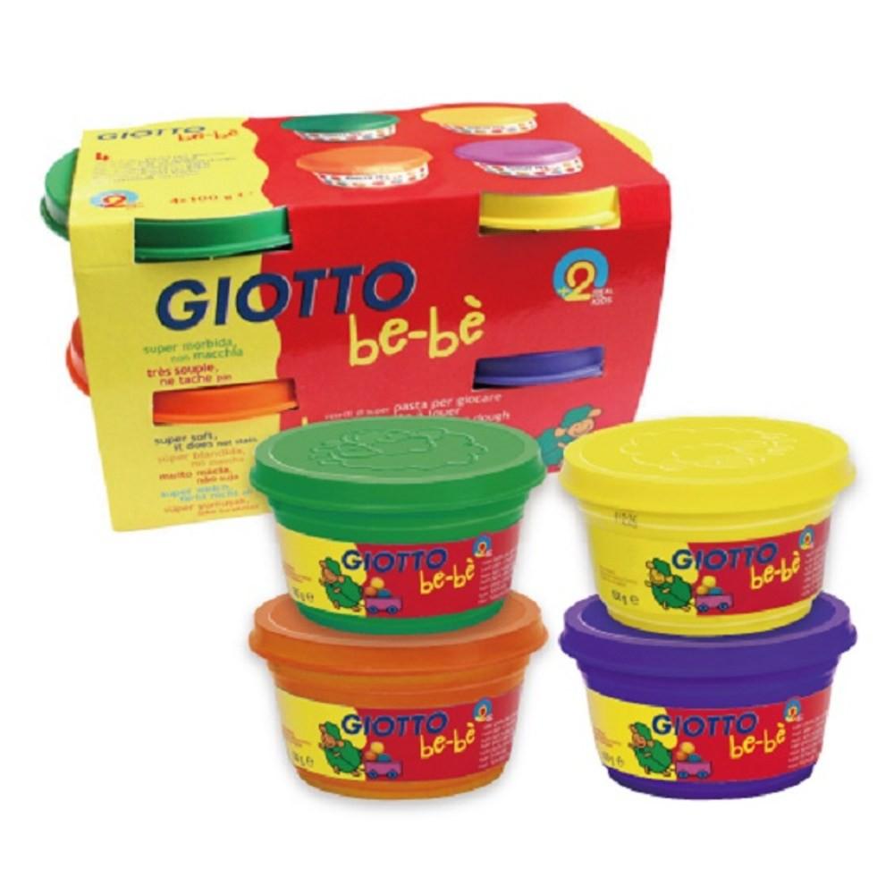 GIOTTO BEBE 寶寶超軟黏土-橘紫(4合1)