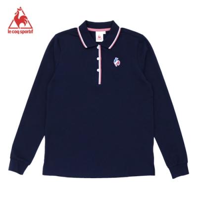法國公雞牌長袖POLO衫 LWK2324039-女-藏青