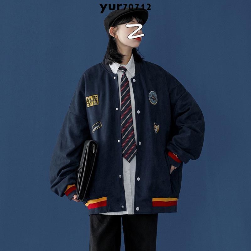 桃園現貨秋季刺繡外套女學生韓版寬松2020年新款百搭夾克衫棒球服ins上衣