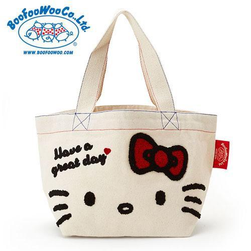 KITTY × BOOFOOWOO刺繡圖騰包