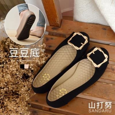 山打努SANDARU-豆豆鞋 方釦圓頭娃娃鞋