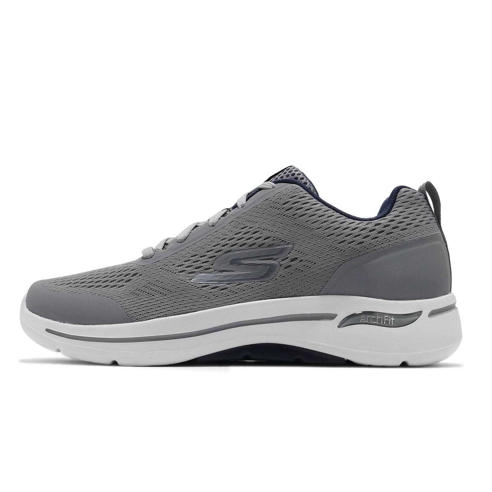 Skechers 健走鞋 Go Walk Arch Fit 灰 白 運動鞋 男鞋 醫師推薦 ACS 216116GYNV