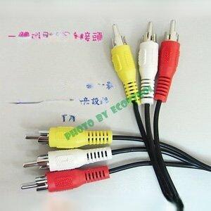 20米高級影音AV線三併訊號線 ◎梅花端子◎RCA◎公公◎線徑3mm(30-121)