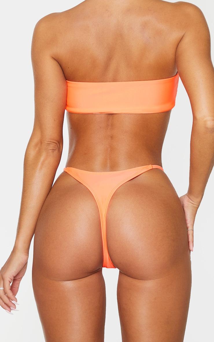 Coral Mix & Match Thong Bikini Bottoms