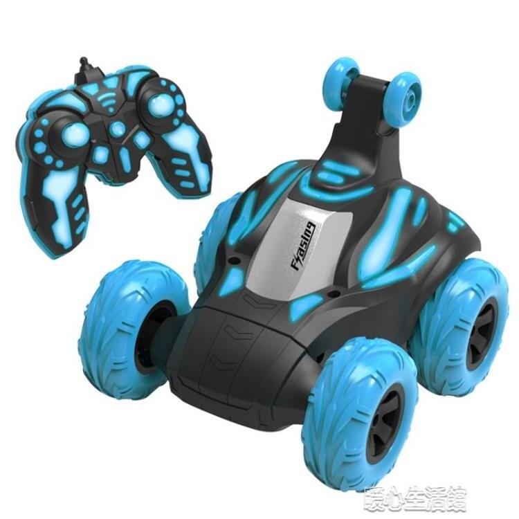 電動賽車玩具兒童翻滾特技車遙控器360度翻斗車可充電池男孩越野  新年鉅惠 台灣現貨