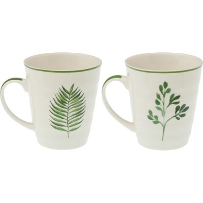 《VERSA》瓷製馬克杯(綠葉345ml)