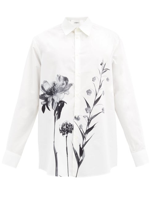 Valentino - Flowersity Oversized Cotton-poplin Shirt - Mens - White
