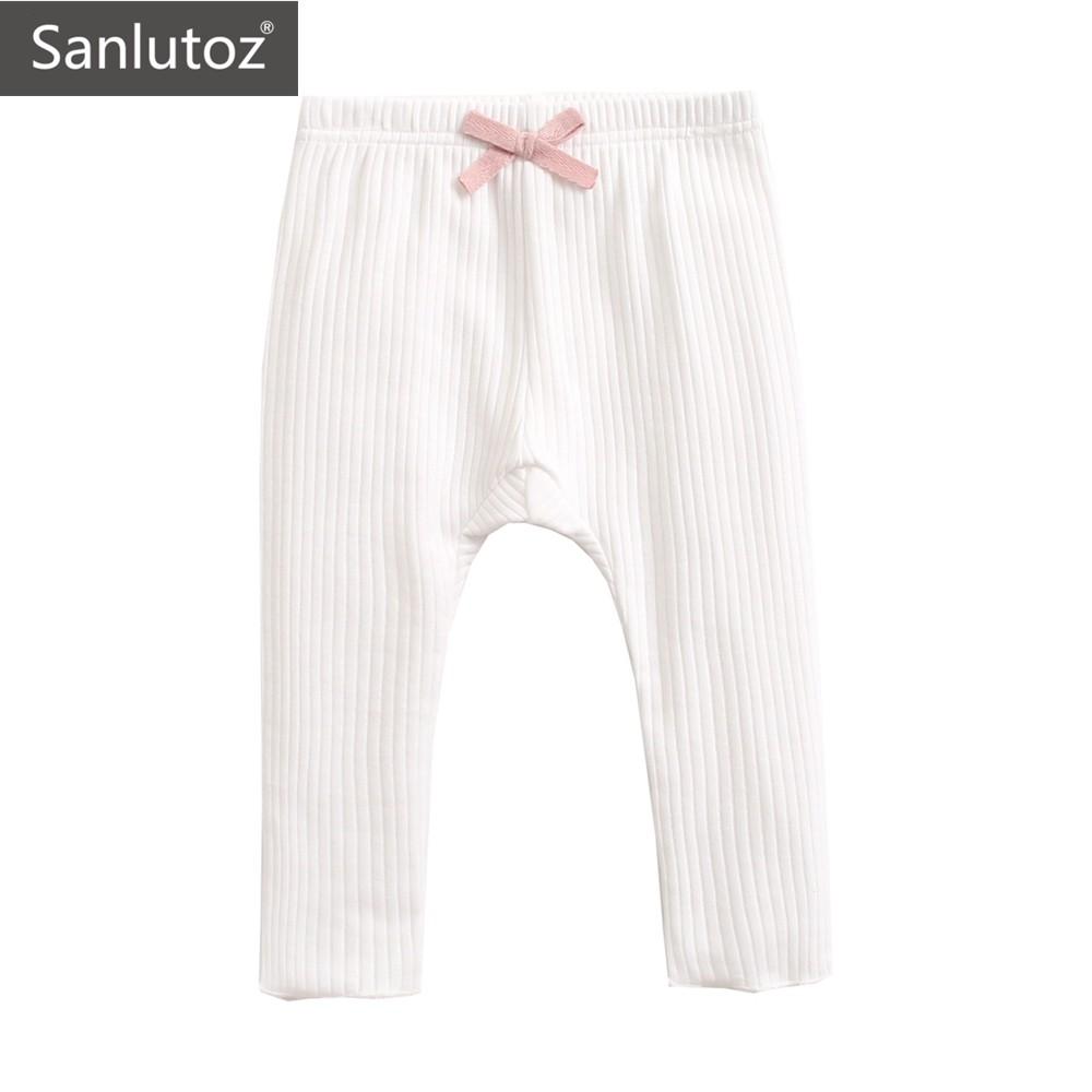 Sanlutoz 嬰幼兒女秋冬打底裤 棉質舒适保暖寶寶長褲 可爱公主風
