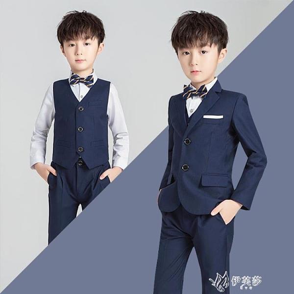兒童西裝套裝男童花童禮服韓版中小童男孩小西服三件套鋼琴 YYS【快速出貨】