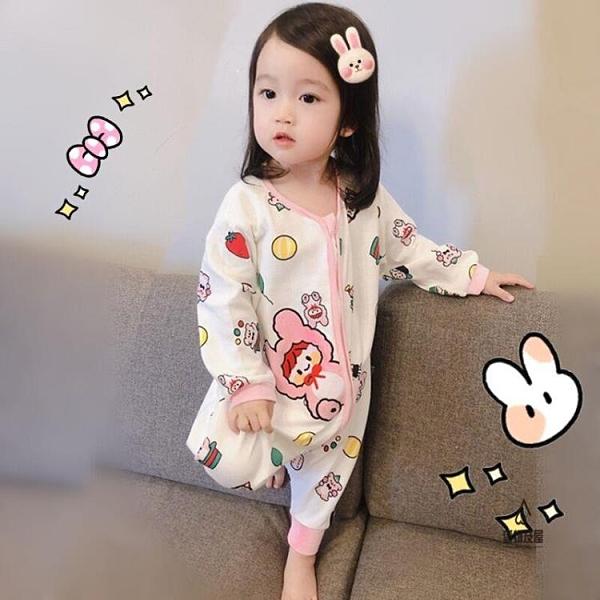 睡袋四季通用兒童可愛寶寶連體睡衣薄款男女童【愛物及屋】
