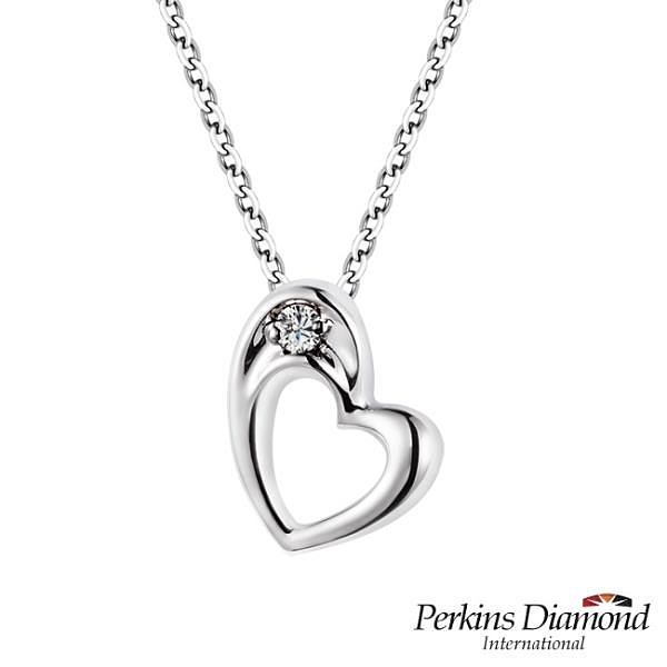【南紡購物中心】PERKINS 伯金仕 Heart系列 鑽石項鍊