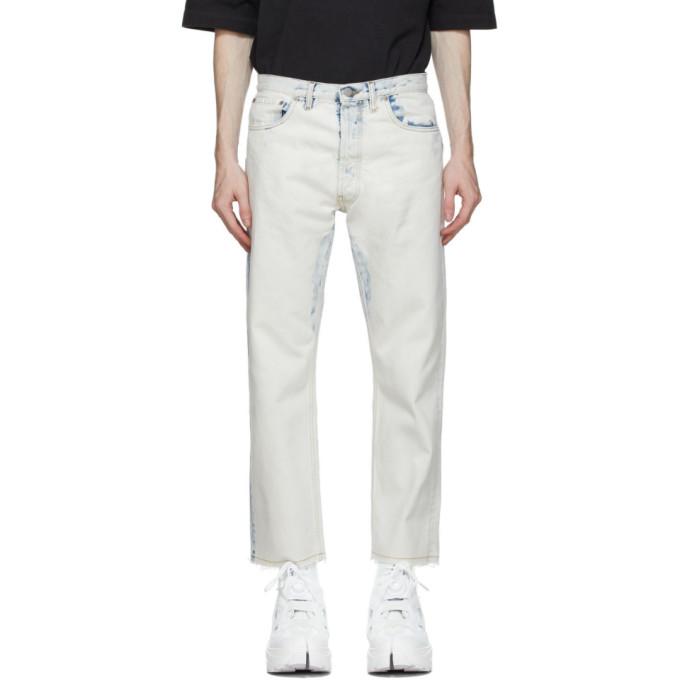 Maison Margiela 灰白色 80s Vintage 漂白牛仔裤