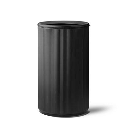 VIPP 壓紋開放式垃圾桶(黑蓋、60L)