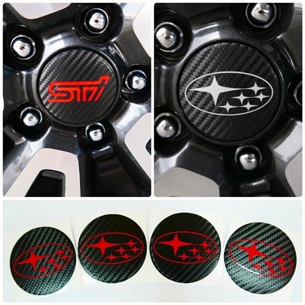 SUBARU速霸陸WRX【平面版 鋁圈蓋貼膜】全車系 直徑5.8公分均適用 鋼圈造型貼 輪胎貼氣嘴蓋