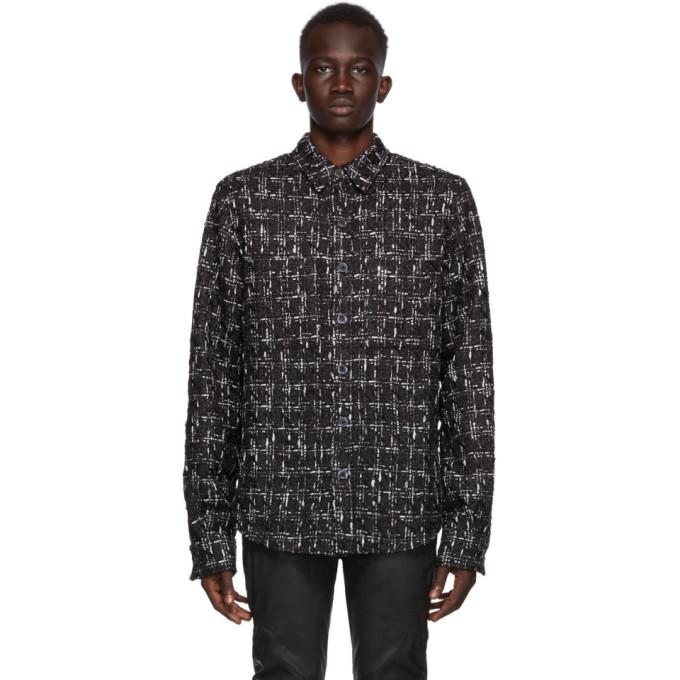 Faith Connexion SSENSE 独家发售黑色 Fabric 3 粗花呢衬衫