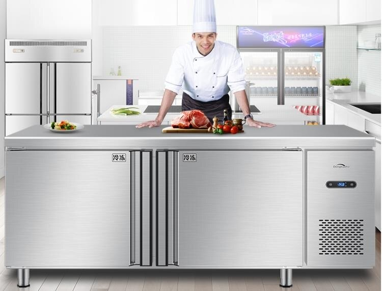 220v冷藏工作臺冷凍保鮮 冰箱大容量冰柜奶茶店設備水吧操作臺