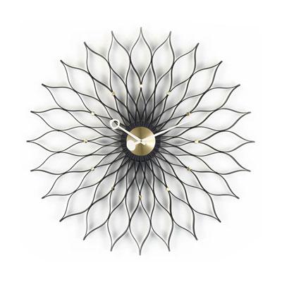 Sunflower Clock 旭日花掛鐘(黑)