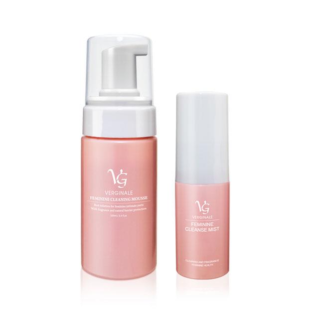 VG薇姬娜 私密潔淨慕斯 100 ml + 私密護理噴霧/噴劑 15 ml 粉色加強版 全效防護組