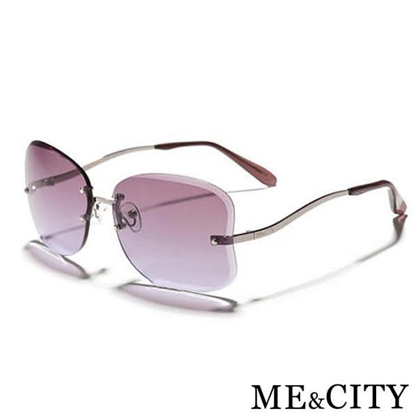 【南紡購物中心】【SUNS】ME&CITY 曲線無框造型太陽眼鏡 義大利設計款 抗UV400 (ME 1222 C08)