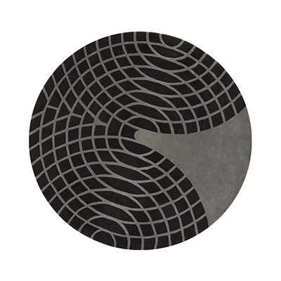 GRAND 圓幾何地毯 (黑)