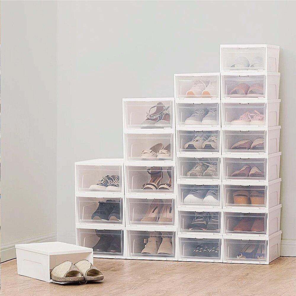 鞋櫃/鞋子收納/無印風 日本IRIS 2入透明收納鞋盒 NSBM340 完美主義 【T0111】