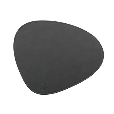 CLOUD 皮革滑鼠墊(曲線、深灰)