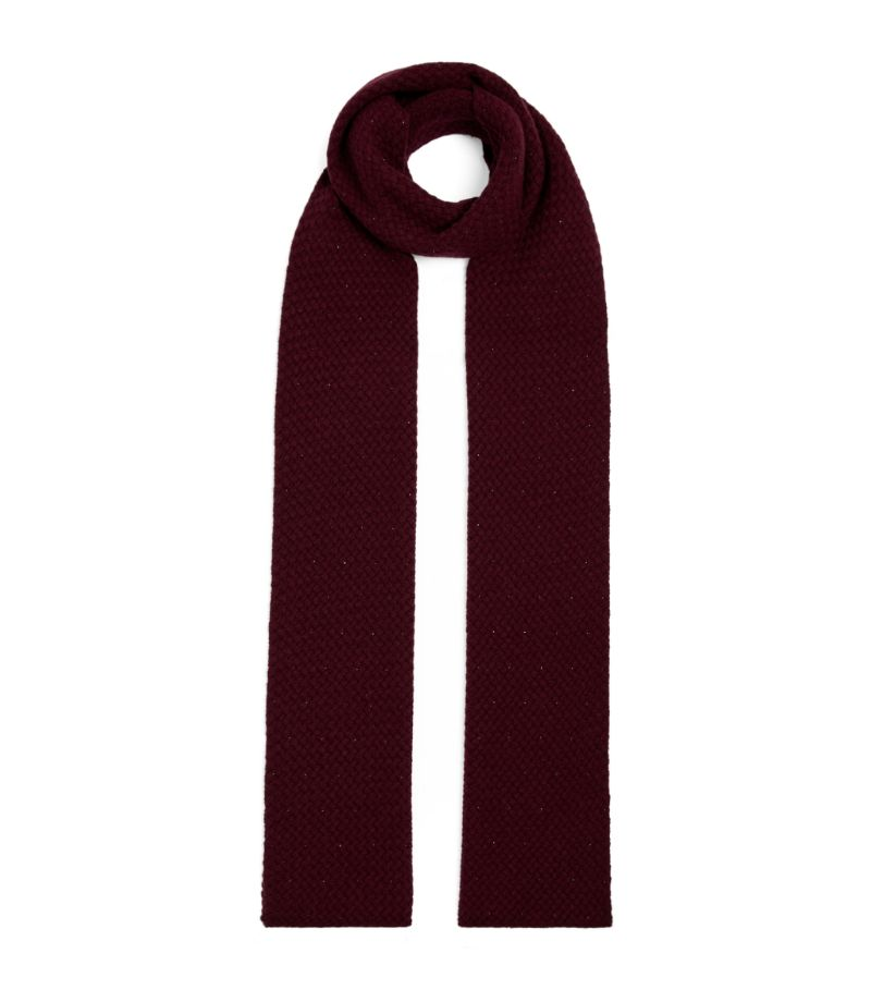 William Sharp Cashmere Waffle-Knit Scarf