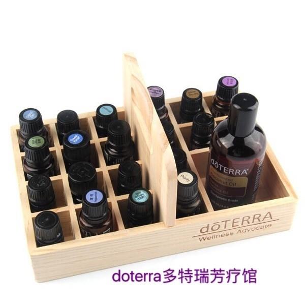 精油盒 精油展示盒提籃木盒收納精油木盒21格 5ml-15mljd