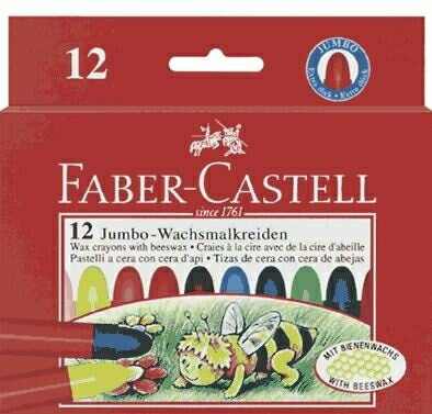 Faber-Castell蜜蜂粗芯蜂蠟筆 *120012