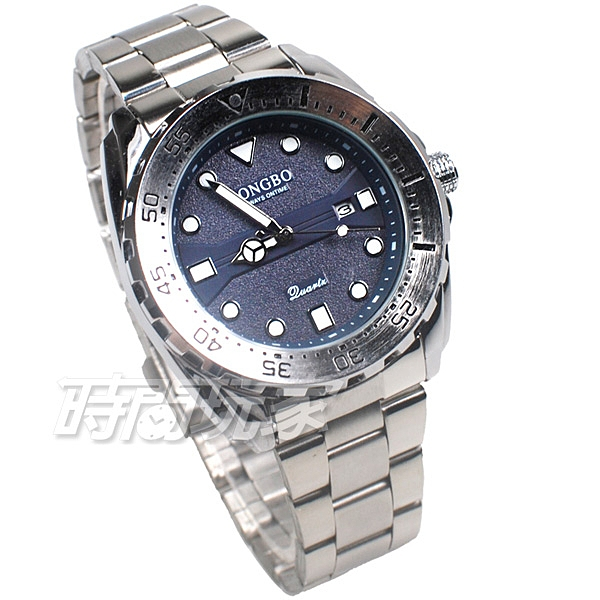 LONGBO龍波 粗曠霸氣 時尚流行 加強夜光 腕錶 男錶 中性錶 日期顯示窗 銀色 L80795-4