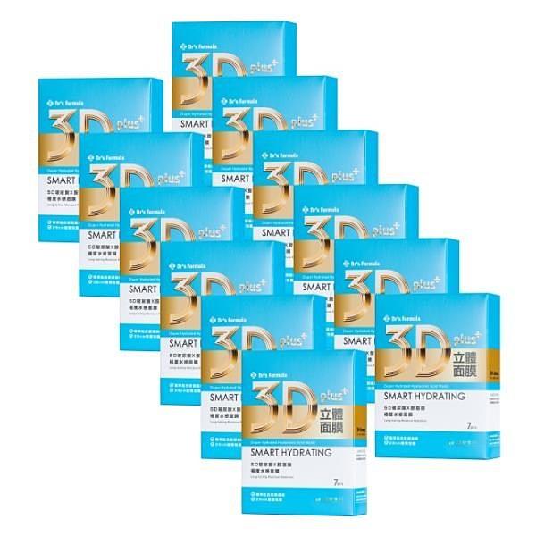 【南紡購物中心】《台塑生醫》Dr's Formula 3D立體極度水感面膜(7片裝)*12盒入