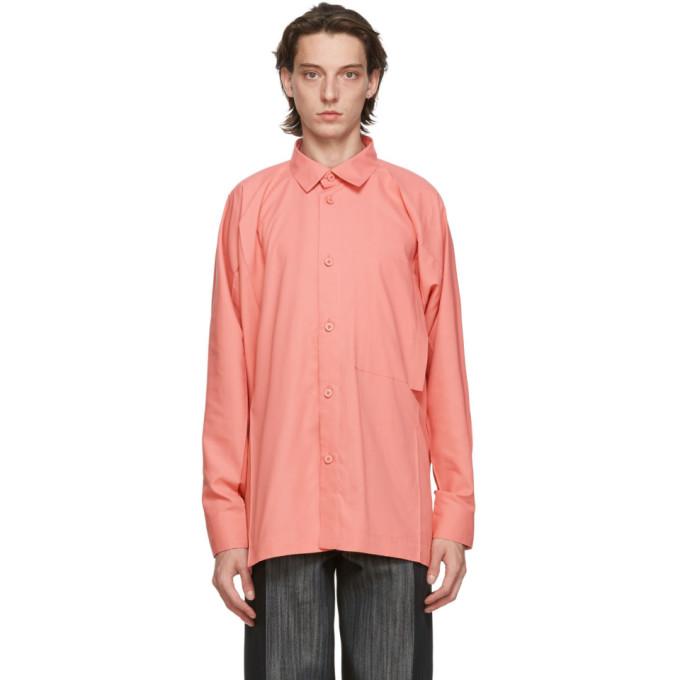 Issey Miyake Men 粉色 Flat 衬衫