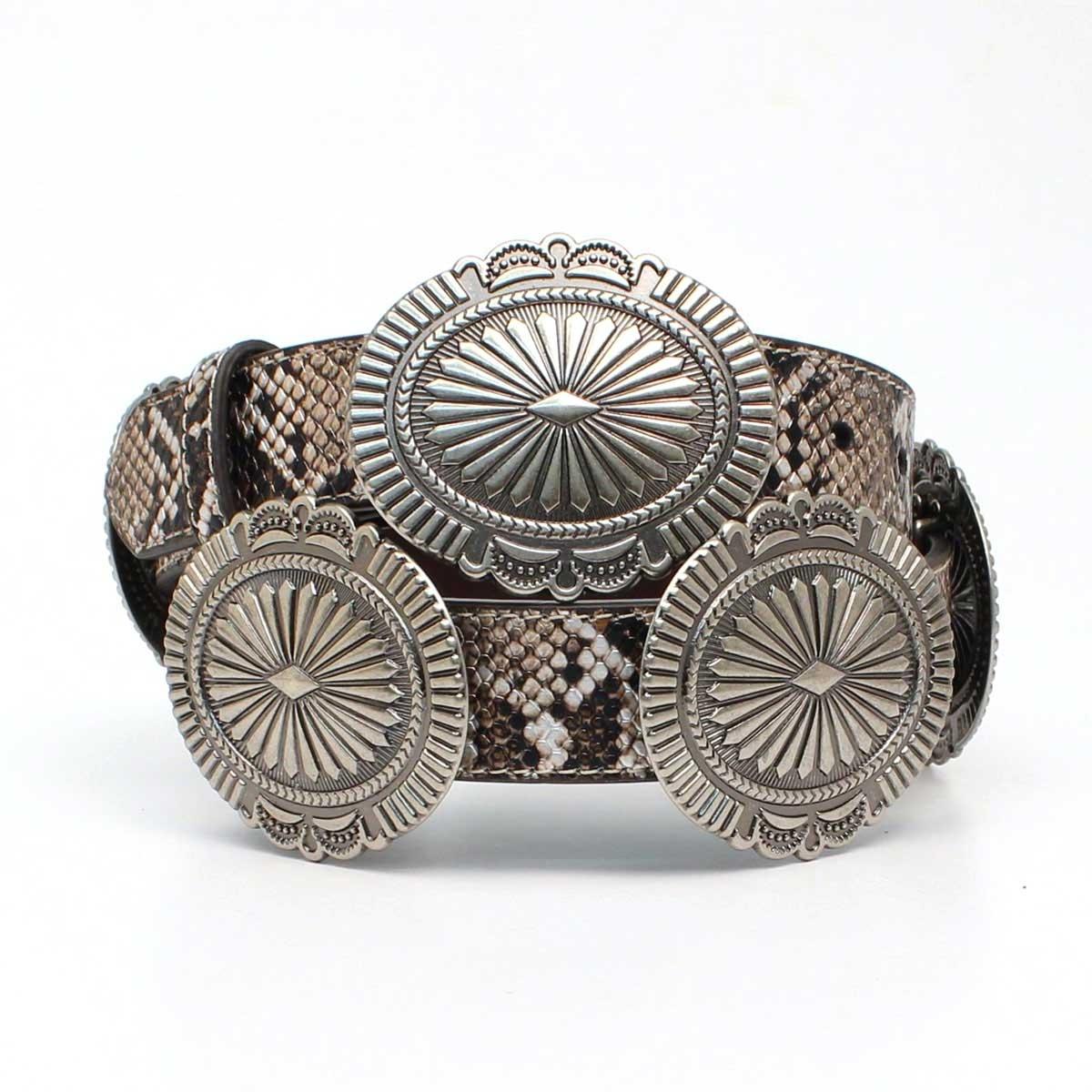 Ariat Silver Snakeskin Belt - Women's Belt