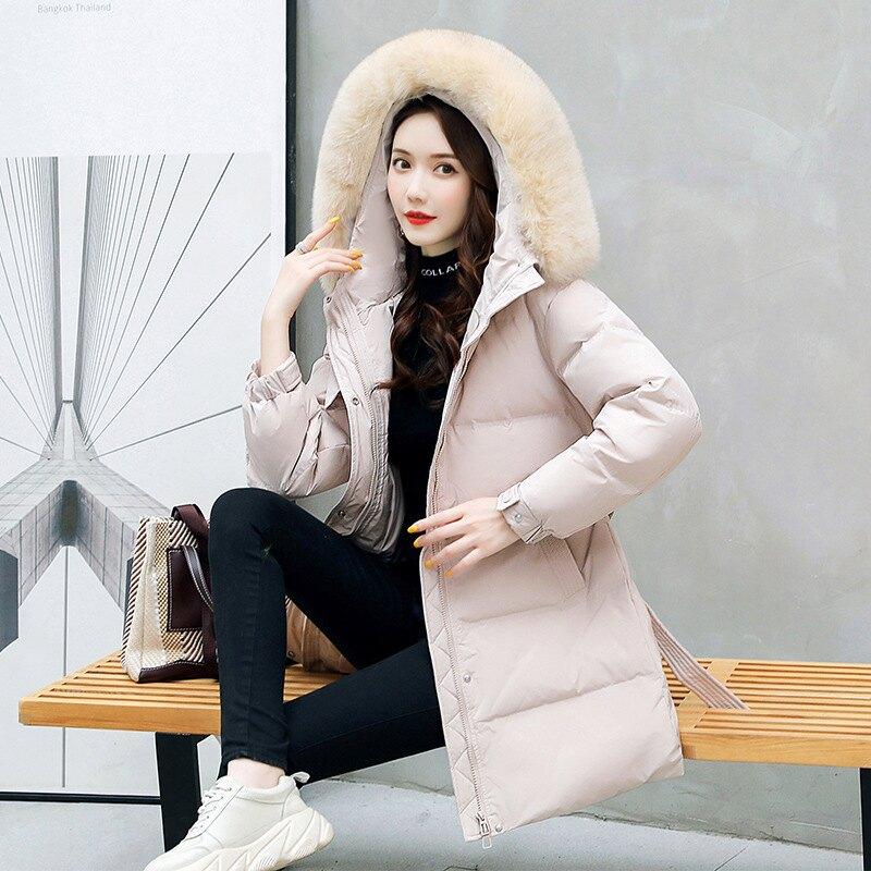 羽絨外套白鴨絨夾克-連帽大毛領蓬鬆修身女外套4色73zb16【獨家進口】【米蘭精品】