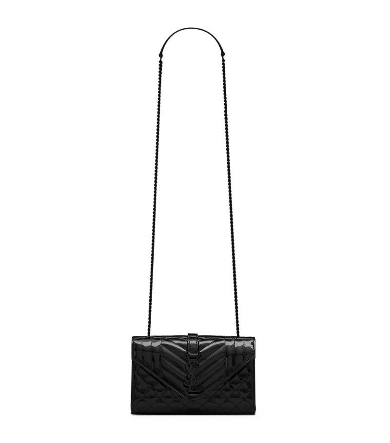 Saint Laurent Small Envelope Patent Leather Matelassé Shoulder Bag