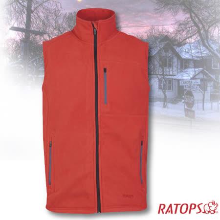 【瑞多仕-RATOPS】男款 DINTEX 抗風防水透氣背心.輕量保暖背心/DH6134 鮮桔色