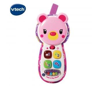 《英國 Vtech》 躲貓貓寶寶手機-粉 東喬精品百貨