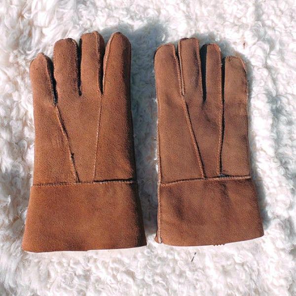 羊皮手套羊毛手套皮毛一體真皮手套戶外騎車防風男女保暖加厚手套【免運快出】