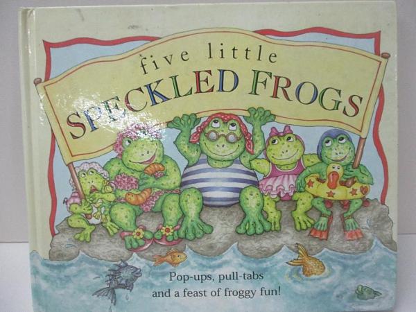 【書寶二手書T4/少年童書_DLL】Five Little Speckled Frogs